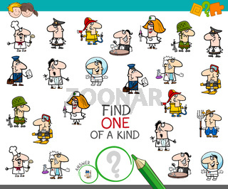 one of a kind game with people jobs color book
