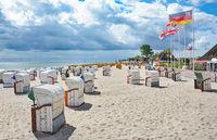 Promenade und Strand im Ostseeheilbad Dahme,Schleswig-Holstein,Deutschland