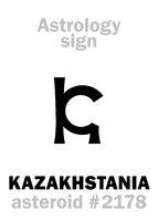 Astrology: asteroid KAZAKHSTANIA