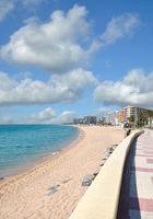 Strand und Promenade in Blanes,Costa Brava,Katalonien,Spanien