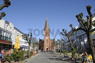 Kirche in Warnemuende, Ostsee, Deutschland, Church, Warnow mouth, Germany, Baltic Sea