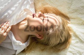 girl in sun light