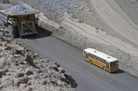 Chucicamata-Kupferbergwerk, Minenstrasse