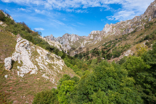 The national Park and mountain range Los Picos de Europa in Spain