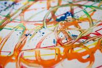 Abstraktes Wasserfarbenbild