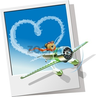 retro racing airplane