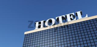 Big Hotel on clear blue sky 02