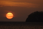 Sunset over Costa Rica