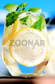 Lemonade in glass