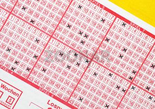 Lotterie Schein
