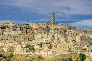 Matera in Basilikata, Italien - the town Matera in Basilicata, Italy