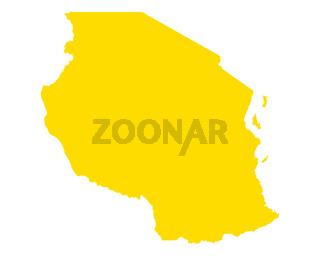Karte von Tansania - Map of Tanzania