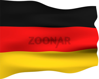 3d flag of Germany isolated in white