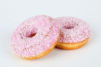 rosa Donut  mit Streusel
