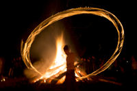 Fire ritual Sirni Zagovezni before Easter