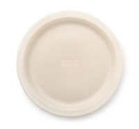 Top view of biodegradable plastic plate