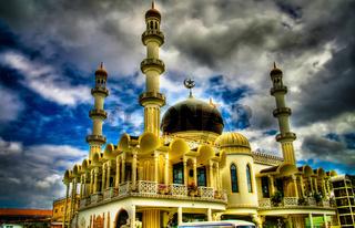 Exterior view to Keizerstraat mosque, Paramaribo, Suriname