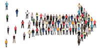 Leute People Menschen Gruppe Richtung Pfeil Erfolg Marketing Organisation Team Teamwork