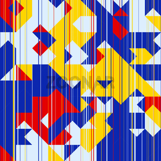 Triangles Retro Abstract Background