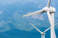 wind turbines closeup