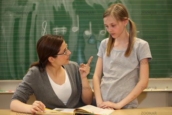 Lehrer muss schuler kennenlernen