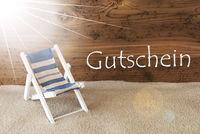 Summer Sunny Greeting Card, Gutschein Means Voucher