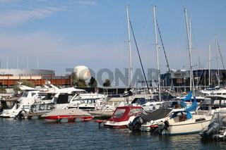 Estland, Tallinn, Yachthafen