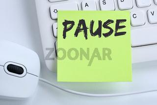 Pause Mittagspause Erholung Arbeit Business Konzept Maus