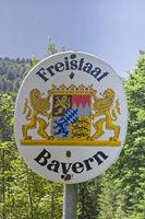 Bayernwappen in freier Natur