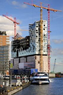 Baustelle der Hamburger Elbphilharmonie