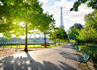 Sunny morning in Paris