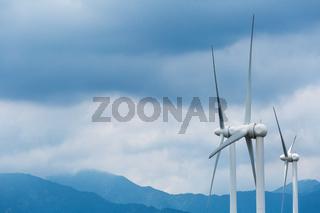wind power generation closeup