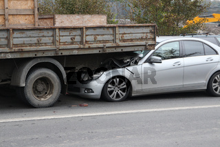 crash car and truck