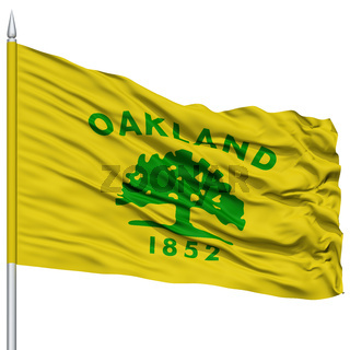 Oakland City Flag on Flagpole, USA