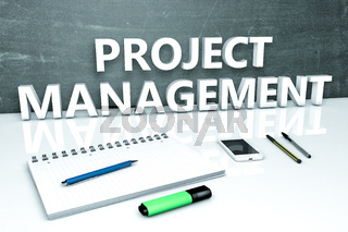 Project Management text concept