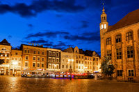 Night in city of Torun in Poland
