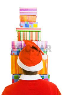Weihnachtsmann von hinten