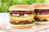 Doubleburger Double Burger Hamburger Käse Tomaten