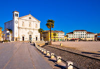 Central square in town of Palmanova church view