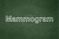 Medicine concept: Mammogram on chalkboard background