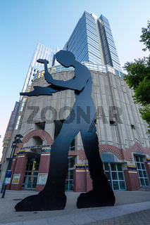 Artwork of 'The Hammering Man' Outside the Seattle Art Museum in Washington, United States