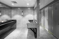 interior of modern public washing room