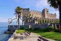 Torri del Benaco Burg - Torri del Benaco castle on Lake Garda in Italy