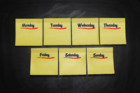 Days of Week Stick Notes