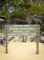 Refuge Cove Sign
