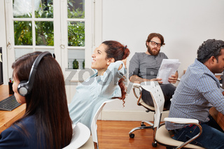 Berater und Telefonisten im Callcenter