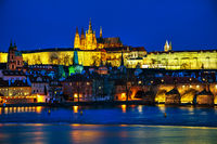Old Prague cityscape overview