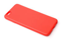 Red protective phone silicone case