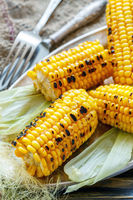 Sweet corn grilled with sea salt.