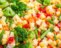 A cocktail of frozen vegetables